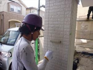 タイル壁中塗り二回目_R